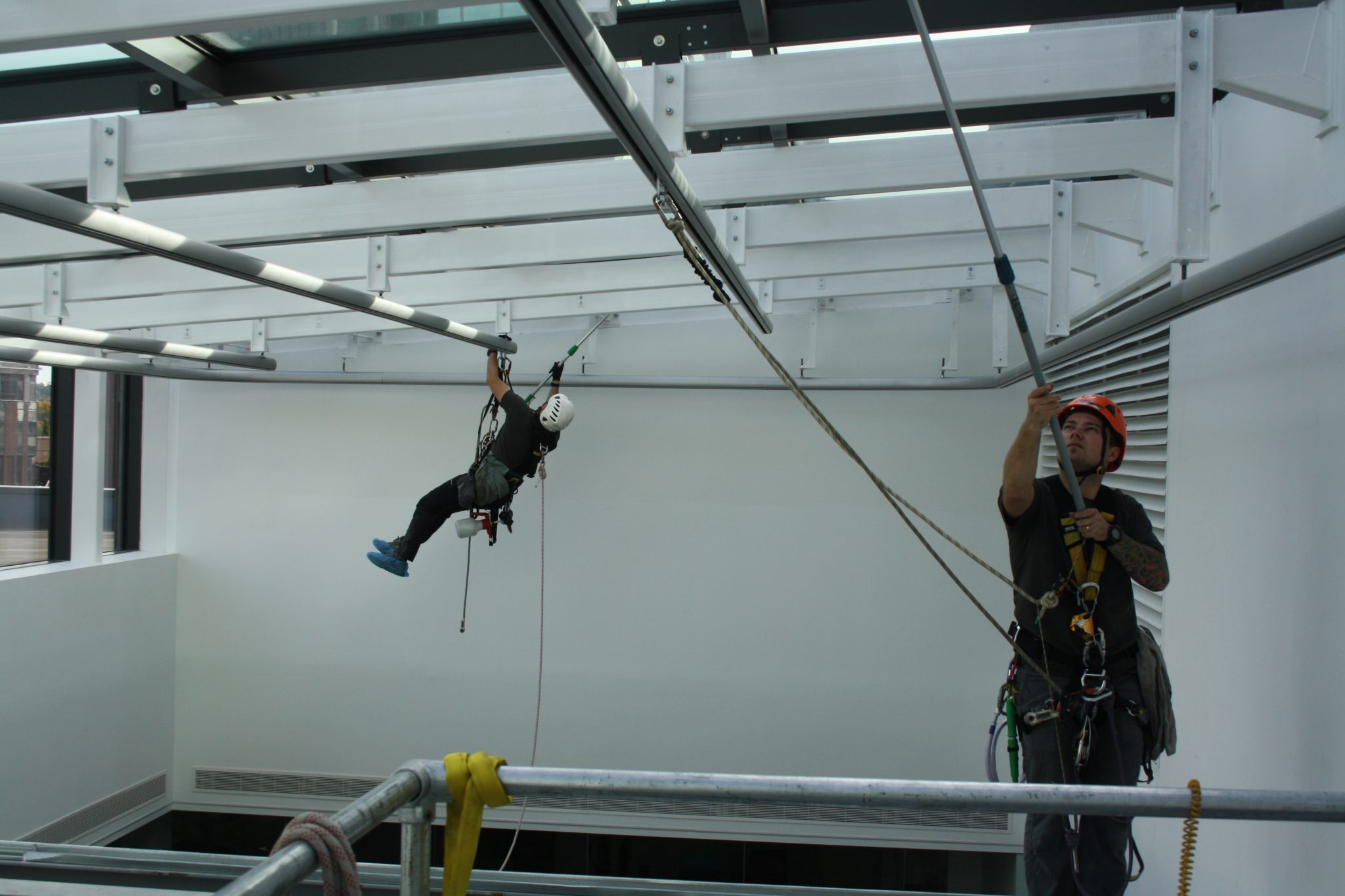 What does rope access training involve?