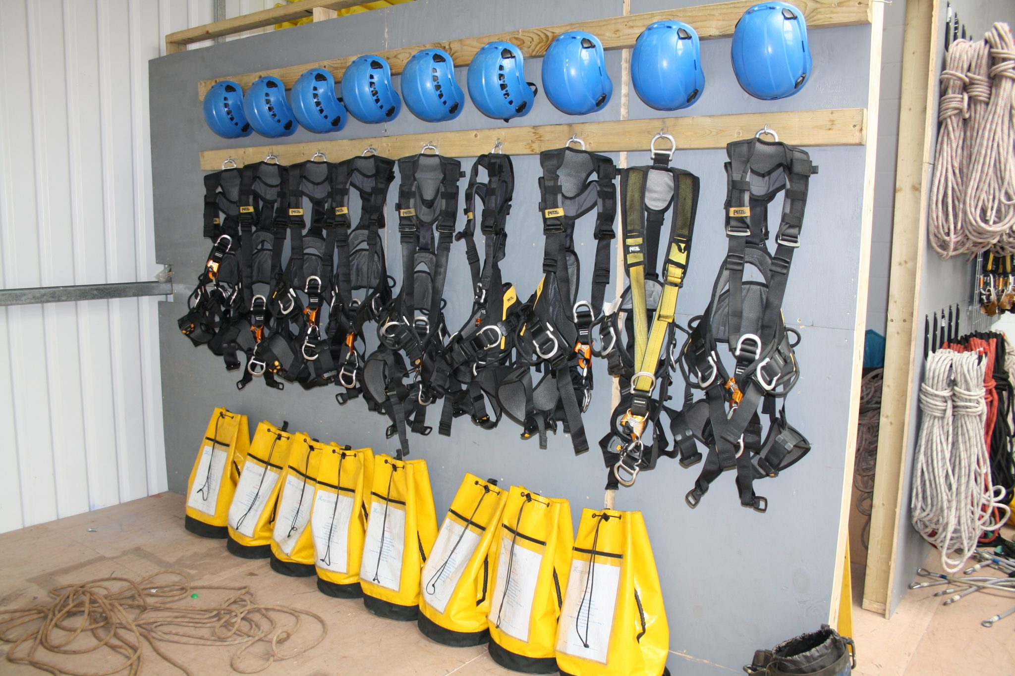 What equipment is required for rope access (part one)